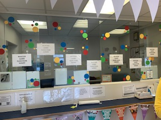 Reception decorated for children in need